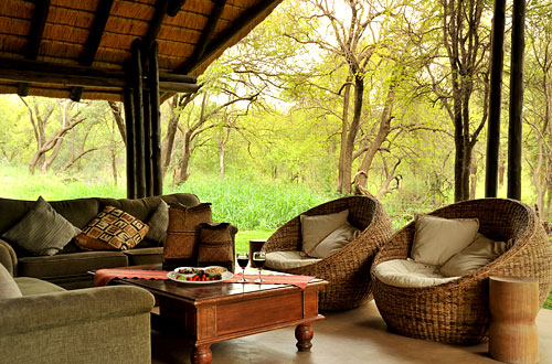 Outside Lounge Black Rhino Game Lodge Pilanesberg Game Park Black Rhino Private Game Reserve Luxury Accommodation