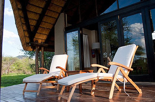 Luxury Chalet private deck Black Rhino Game Lodge Pilanesberg Game Park Black Rhino Private Game Reserve