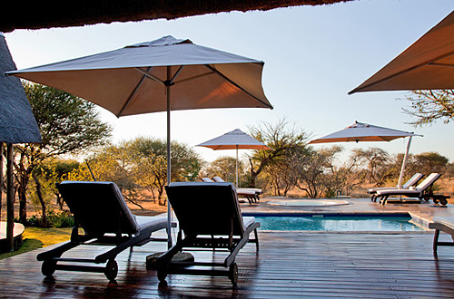 Deck Sun Loungers Black Rhino Game Lodge Pilanesberg Game Park Black Rhino Private Game Reserve Luxury Accommodation