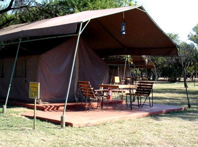 Outside view of Exclusive Safari Tents at Manyane Resort Accommodation Bookings for Pilanesberg Game Park,Luxury Accommodation