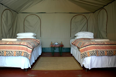 Inside view of Exclusive Safari Tents at Manyane Resort Accommodation Bookings for Pilanesberg Game Park,Luxury Accommodation